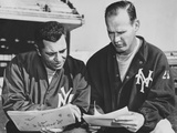 Ny Giants Coaches  Tom Landry and Vince Lombardi Reviewing Play Charts