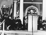 President Harry Truman Dedicated the Roosevelt Memorial Library  April 12  1946