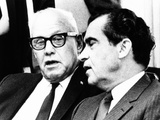 President Richard Nixon with Afl-Cio President George Meany  May 5  1969