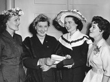 Pat Nixon and Mamie Eisenhower at the Cherry Blossom Fashion Show