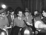 Vice President Richard Nixon with Reporters on Nov