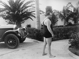 Chicago Gangster Al Capone Wearing a Bathing Suit at His Florida Home
