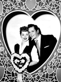 Lucille Ball  Left  and Desi Arnaz  Wishing their Fans a Happy Valentine's Day  1956