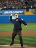 President George W Bush Throws the Ceremonial First Pitch at Yankee Stadium