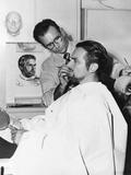 Makeup Artist Ben Nye Working on Actor Douglas Fairbanks  Jr