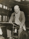 Pablo Casals at Rehearsal Conducting the Barcelona Philharmonic Orchestra