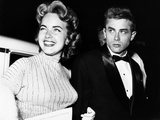 From Left  Terry Moore  James Dean  at the Premiere of Sabrina  1954