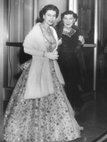 Queen Elizabeth II and Mamie Eisenhower in Evening Gowns at the British Embassy