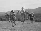 Mary Martin with Children in Mountain Landscape