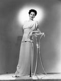 Maria Montez  Modeling a Pink Crepe Dinner Dress  1944