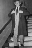 Gangster Meyer Lansky Leaving Manhattan Arrest Court on Feb
