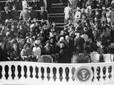 Guests Talk and Mingle before the Inauguration Ceremony of President John Kennedy