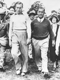 Walter Hagen and Henry Cotton During their 36 Hole Challenge Match  July 29  1933