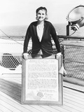 Barbara Hutton  Woolworth Heiress  on the Deck of an Ocean Liner