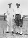 Golfers Mcdonald Smith and Walter Hagan  at Inwood  Long Island  on July 11  1923