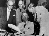 President Harry Truman with Advisors on June 13  1945