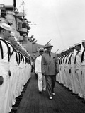 President Harry Truman Inspects the Personnel of the Uss Missouri