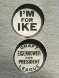 1948 Campaign Buttons of the 'Draft Eisenhower for President League'