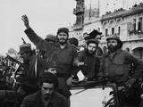 Fidel Castro  with His Fellow Revolutionaries  Entering Havana on January 8  1959