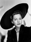 Maria Montez  Modeling a Black Felt and Velvet Hat by Jacques Fath  1946
