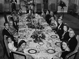 Mamie Eisenhower Has a Big Family Dinner at the White House on Her Birthday