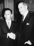 Park Chung-Hee and Retired General Douglas Macarthur Shake Hands