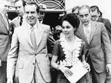 President Richard Nixon  Daughter Julie  and Friend Charles Rebozo in Miami