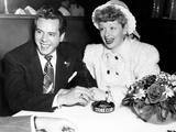 From Left  Desi Arnaz  Lucille Ball  at the Stork Club  1947