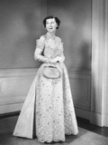 First Lady Mamie Eisenhower in Her Beaded Inaugural Gown