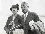 Will Rogers and His Wife Betty in Seattle in August 1935