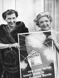 First Lady Mamie Eisenhower and Actress Mary Pickford Promote Defense Bonds