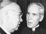 Francis Cardinal Spellman with Bishop Fulton J Sheen