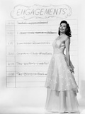 Ann Miller  Checking Off Her 'To-Do' List  1948