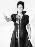 Ethel Merman at the NBC Radio Microphone  1940s