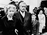 Spencer Tracy's Widow  Louise  Leaving Requiem Mass for Her Estranged Husband