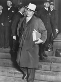 Al Capone  Winks at Photographers as He Leaves Chicago's Federal Courthouse