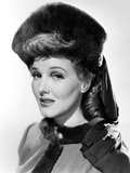 Jean Parker  Modeling a Beaver Hat with Brown Silk Jersey Drapery  1941