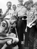Buffalo Bills Player Jack Kemp Signs His Autograph for a Boy on August 4  1964