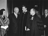 President and Mamie Eisenhower Leaving National Presbyterian Church  March 6  1955