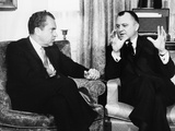 President-Elect Richard Nixon with Walter Hinkle  Dec 19  1968