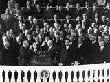 Chief Justice Fred Vinson Administers the Oath of Office to Dwight Eisenhower