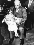 Financier JP Morgan with Circus Midget Lya Graf Sitting on His Knee  June 1  1933