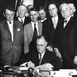 President Franklin D Roosevelt Signs the Tva Act  on May 18  1933
