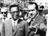 President Richard Nixon Welcomes Pres Joseph Mobutu at the White House