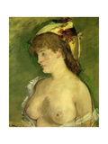 The Blonde with Bare Breasts  Circa 1878