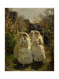 Girls at First Communion  in Courrieres  1855