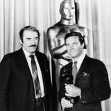 Cliff Robertson (Right) Receives a Belated Best Actor 'Oscar' for His Film 'Charley'