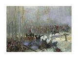 Cuirassier of Colonel Dubois Charging During Battle of Berezina  Nov 28  1812