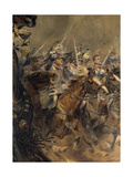 Last Charge of the General Lassalle  Battle of Wagram  July 6  1809  Detail