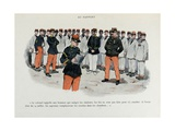 Mes Campagnes  1896  Soldiers to the Report  Reading of the Colonel Orders
